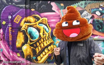 Awesome Shit Poop Pillow Poopy Smiley
