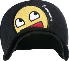 Bottom visor Awesome Smiley Cap Yellow Fitted Flex Size