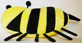 Smiley Bee Plush Pillow Cushion Shop Dirty White Paint