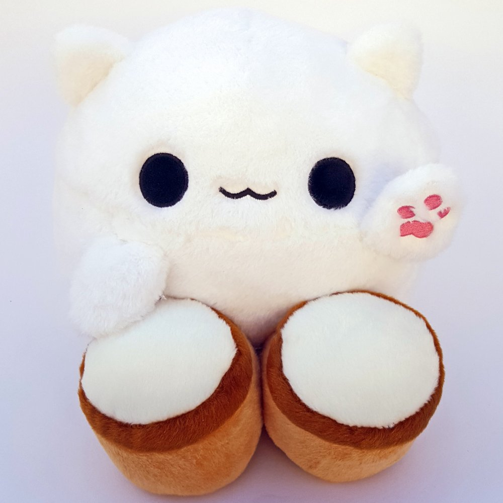 Bongo Cat Kitty Toy Meme Plush Smiley
