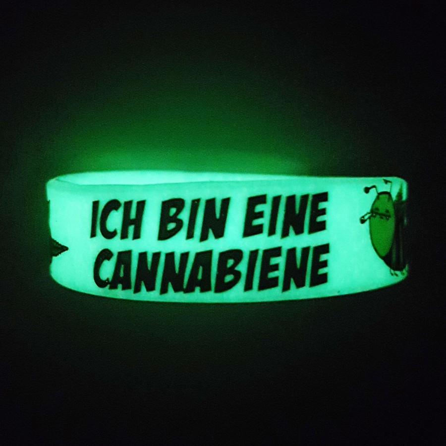 Silicone Wristband Canna Bee DirtyWhitePaint