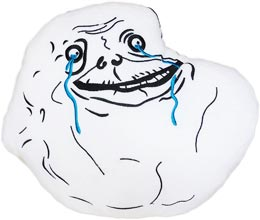 Forever Alone Meme Pillow Rage Face Cushion Plush Smiley Shop