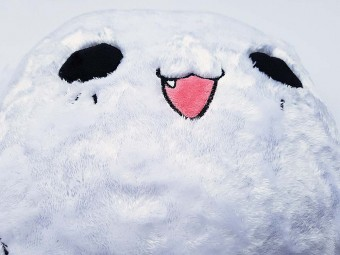 Ghost Cat Plush Pillow Smiley