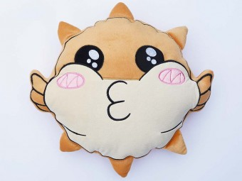 Puffi Fish Smiley Pillow Blowfish Germanletsplay