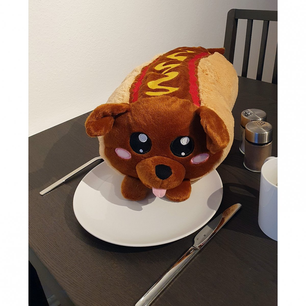 Hotdog Plush Fastfood Toy Emoticon Pillow Snack