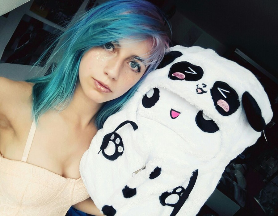 Marshmallow Pandahoodie Pillow Cute Girl