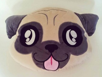 Pug Smiley Pillow Shop Dog Plush Toy