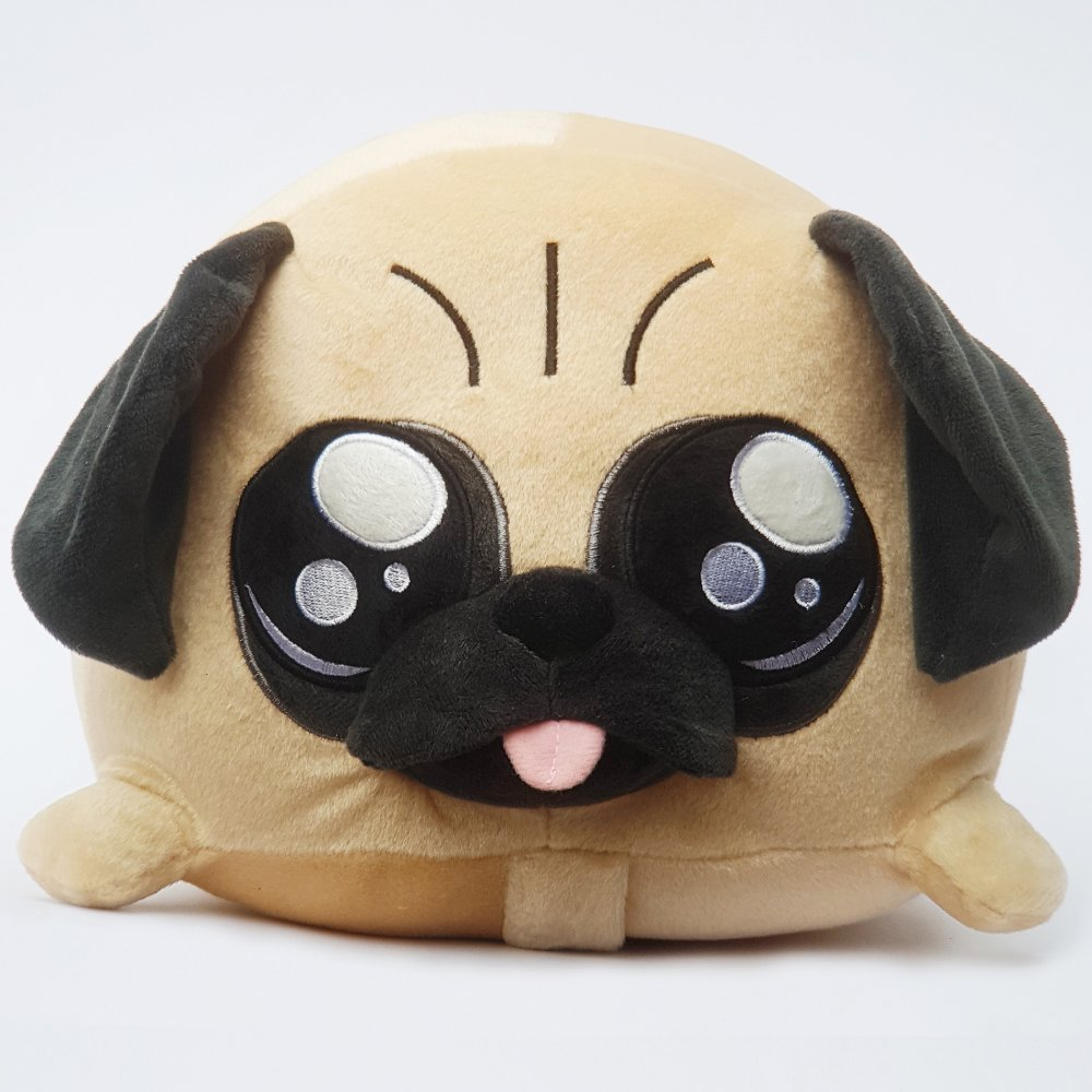 Pug Smiley Pillow Toy Dog