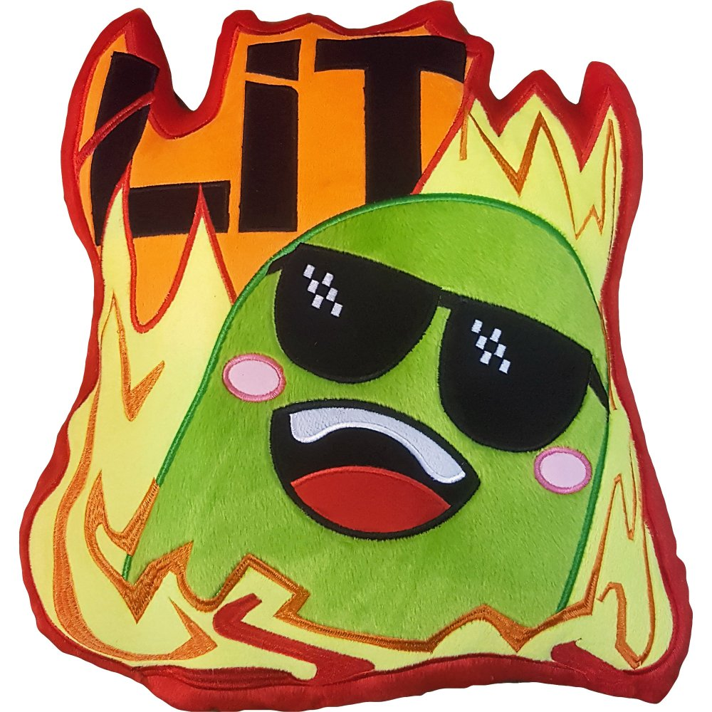 Pickle Fire Emote Pillow Stream Perrick Shop