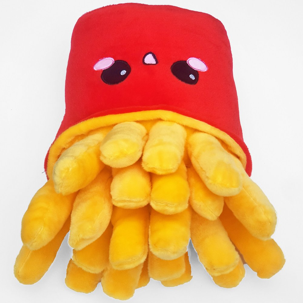 French Fries Plush Pillow Emoticon Cushion Fastfood