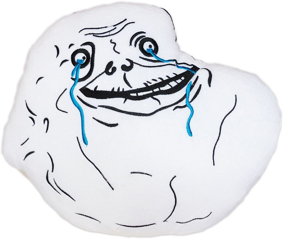 Moodrush Forever Alone Meme Plush Cushion Rage Face Shop