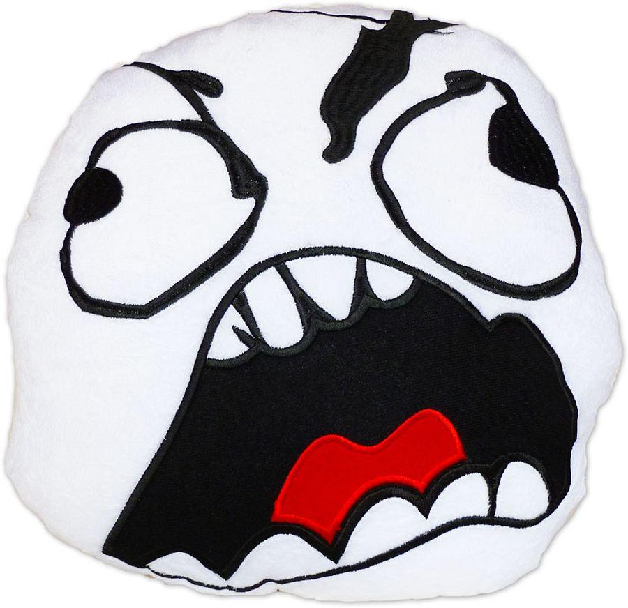 moodrush fu face rage guy pillow meme cushion fuuu smiley. Black Bedroom Furniture Sets. Home Design Ideas