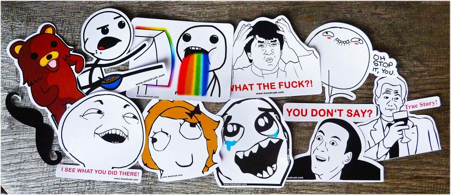 Rage Face Comics Sticker Meme Decals Pedo Bear Moustache Rainbows Nyan ...