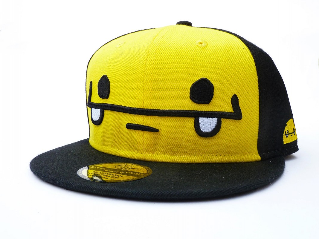 Smiley Bee Cap Shop Snapback Dirty White Paint