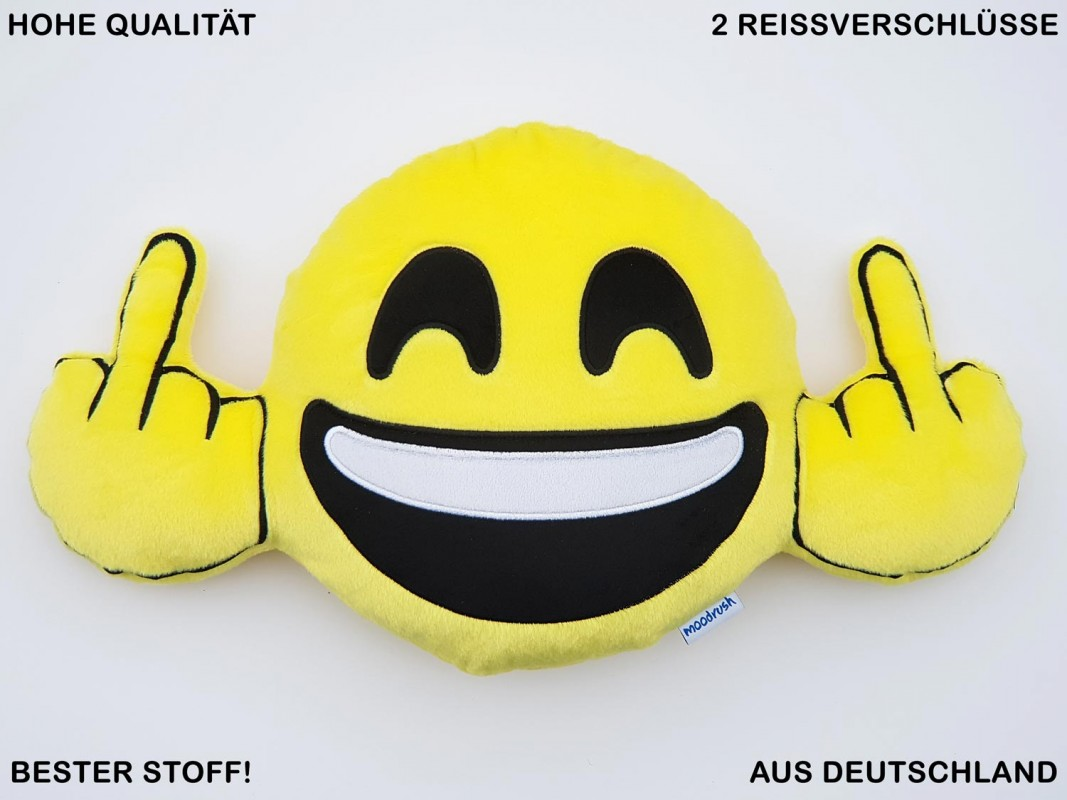 Happy Fuck You Middlefinger Emoticon Pillow Smiley Emoticon Cushion Mobile Chat Messenger