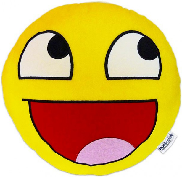 Awesome plush Smiley Epic Face Emoticon cushion pillow
