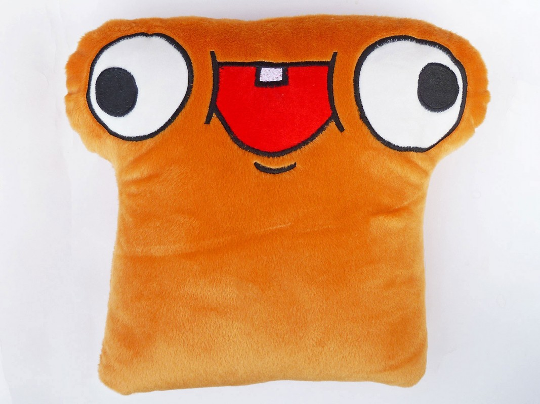 moodrush toast emoji pillow plush smiley shop. Black Bedroom Furniture Sets. Home Design Ideas