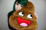 Awesome Shit Pillow Poopy Poopy Emoticon