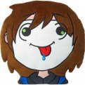 Retard Head Emoticon GermanLetsPlay Pillow