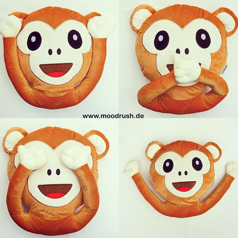 Emoji Monkey Pillow Shop - Ape Plush Toy with arms and Magnets