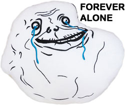 forever alone meme face plush pillow and cushion of famous meme rage ...